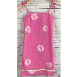 Vintage Lilly Pulitzer pink floral dress